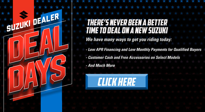 Suzuki Dealer Deal Days at Kent Powersports of Austin, Kyle, TX 78640