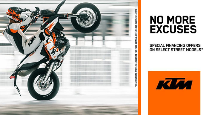 No More Excuses at Yamaha Triumph KTM of Camp Hill, Camp Hill, PA 17011