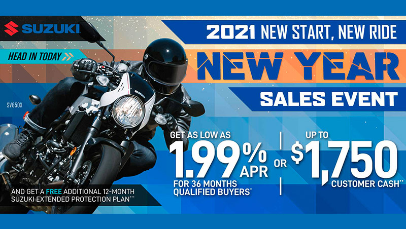 2021 New Start, New Ride, New Year Sales Event at Ride Center USA