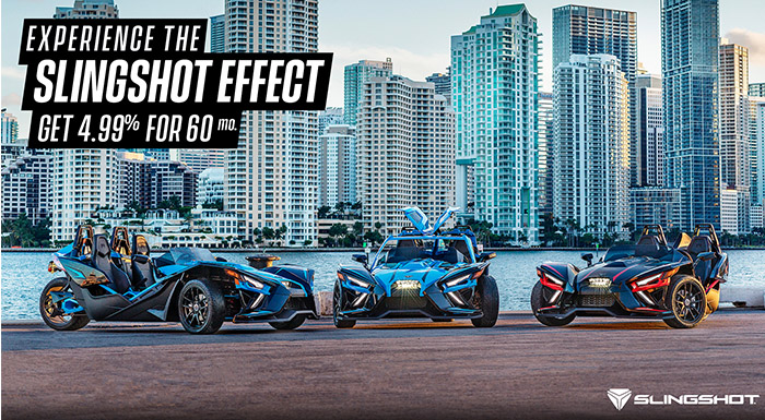 Polaris Slingshot's Low Financing Offer at Brenny's Motorcycle Clinic, Bettendorf, IA 52722