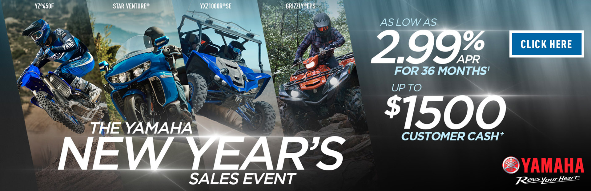 The Yamaha New Year's Sales Event