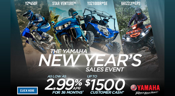 The Yamaha New Year's Sales Event at Lynnwood Motoplex, Lynnwood, WA 98037