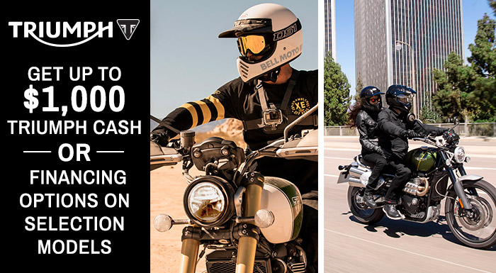 Triumph's Latest Offers