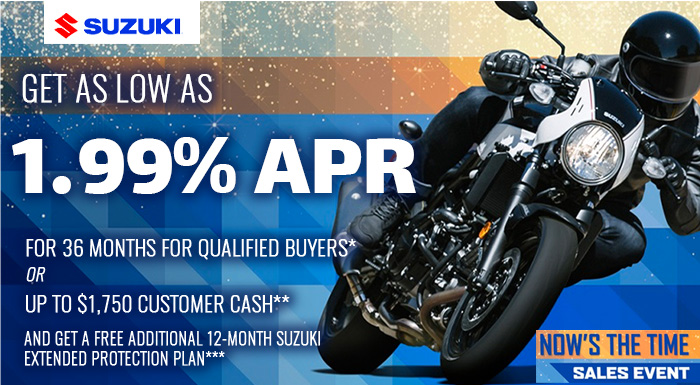 Suzuki's Now's the Time Sales Event at Ride Center USA