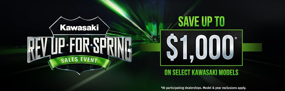 Kawasaki''s Rev Up For Spring Sales Event at Shawnee Honda Polaris Kawasaki