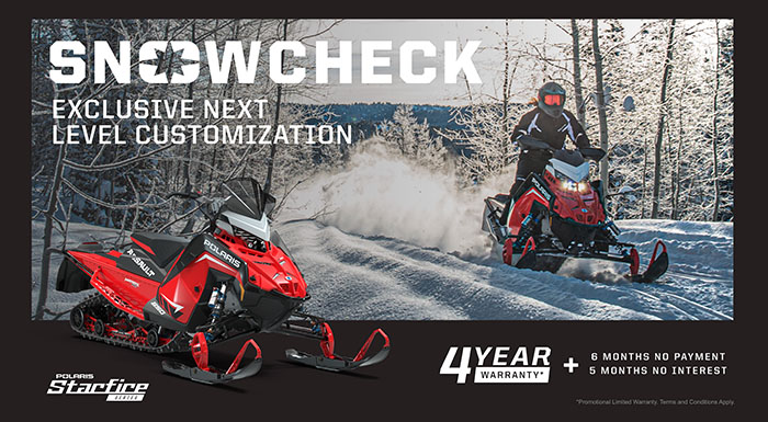 Polaris Snowcheck at Fort Fremont Marine