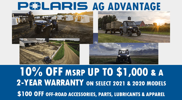 Polaris AG Advantage at Brenny's Motorcycle Clinic, Bettendorf, IA 52722