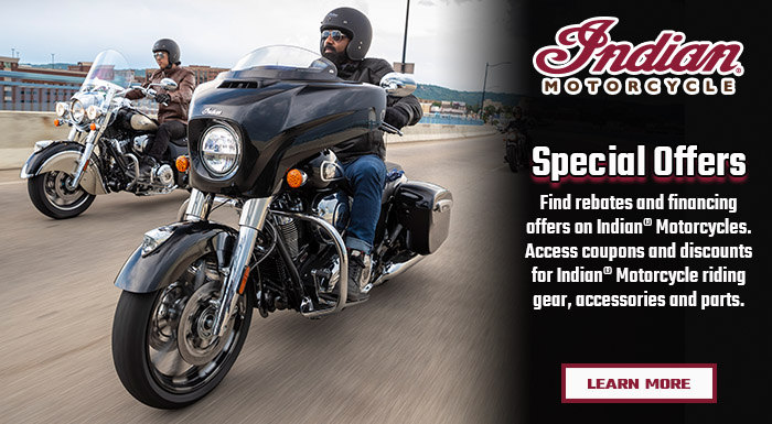 Indian Motorcycles Special Offers at Shreveport Cycles