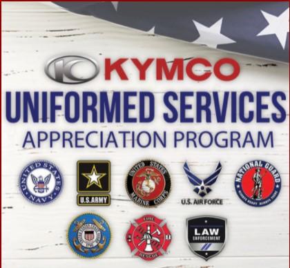 KYMCO Uniformed Services Appreciation Program at Arkport Cycles
