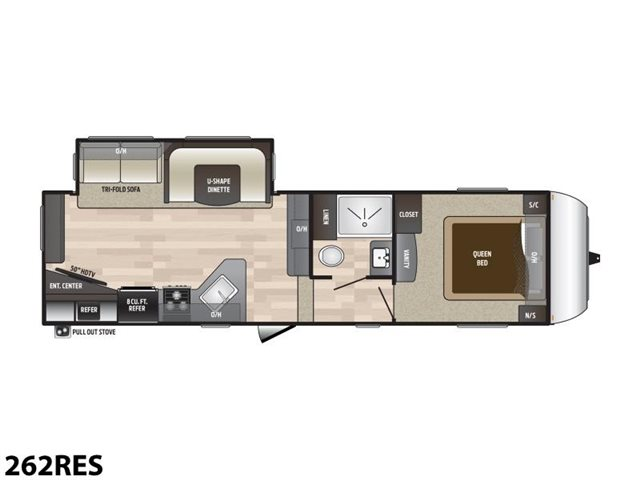 2019 Keystone RV Hideout 262RES Rear Living at Campers RV Center, Shreveport, LA 71129