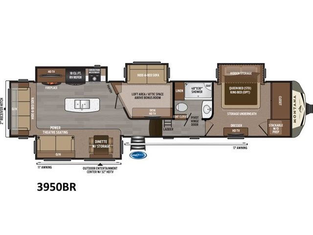 2019 Keystone RV Montana 3950BR at Campers RV Center, Shreveport, LA 71129