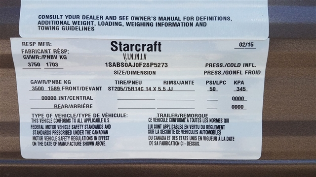2015 Starcraft AR-ONE 18QB at Nishna Valley Cycle, Atlantic, IA 50022