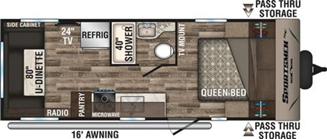 2020 KZ Sportsmen SE 220RDSE Rear Living at Campers RV Center, Shreveport, LA 71129