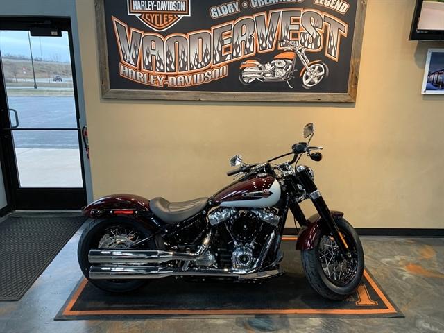2021 Harley-Davidson Cruiser FLSL Softail Slim at Vandervest Harley-Davidson, Green Bay, WI 54303