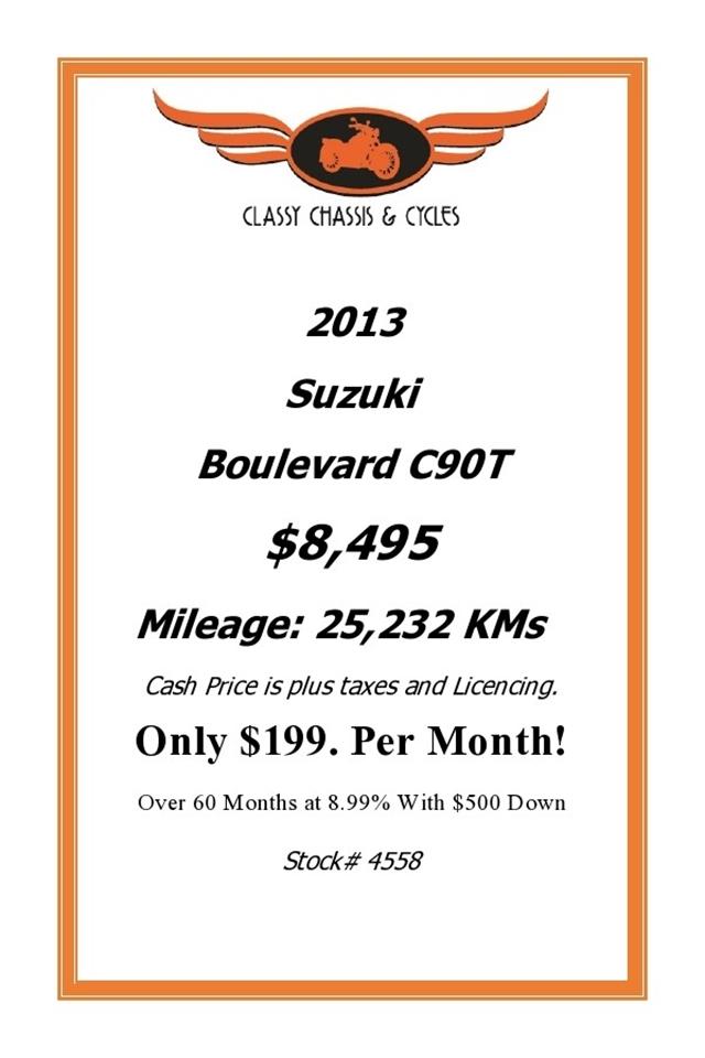 2013 Suzuki Cruiser at Classy Chassis & Cycles