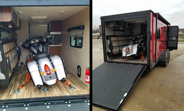 2018 TRAVEL LITE FALCON TOY HAULER at Randy's Cycle, Marengo, IL 60152