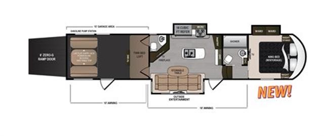 2020 Dutchmen Voltage 3915 V3915 at Campers RV Center, Shreveport, LA 71129