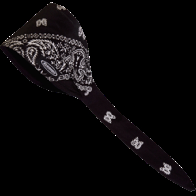2019 UNIVERSAL BANDANA OLD SCHOOL BLACK / PAISLEY at Randy's Cycle, Marengo, IL 60152