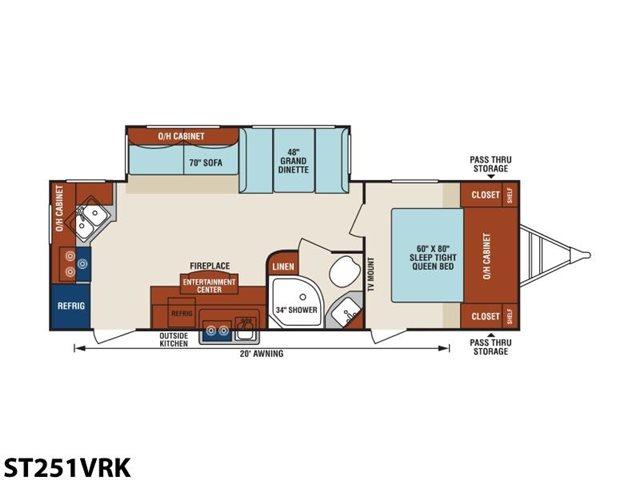 2019 Venture RV SportTrek ST251VRK Rear Kitchen at Campers RV Center, Shreveport, LA 71129