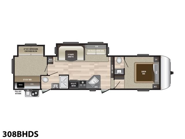 2019 Keystone RV Hideout 308BHDS Bunk Beds at Campers RV Center, Shreveport, LA 71129