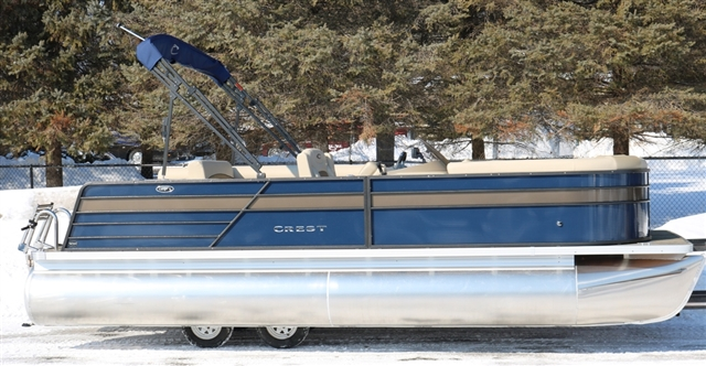 2019 Crest II 220 SLS Navy w/Caribou accent at Fort Fremont Marine, Fremont, WI 54940