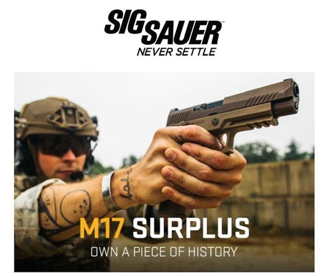 2018 Sig Sauer M17 Surplus at Harsh Outdoors, Eaton, CO 80615