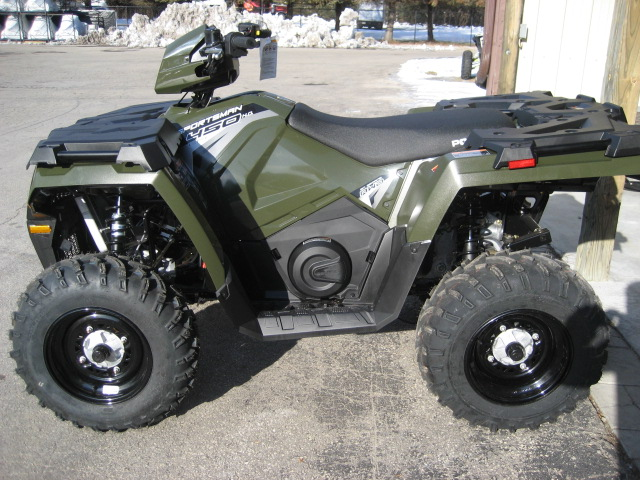 2019 Polaris Sportsman 450 H.O. Sage Green at Fort Fremont Marine, Fremont, WI 54940