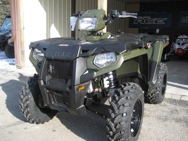 2019 Polaris Sportsman 450 HO Sage Green at Fort Fremont Marine, Fremont, WI 54940
