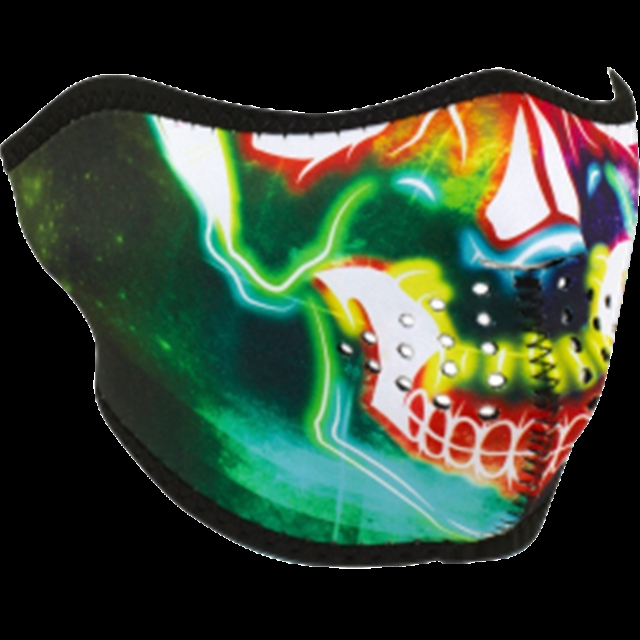 2019 UNIVERSAL HALF MASK NEON SKULL at Randy's Cycle, Marengo, IL 60152