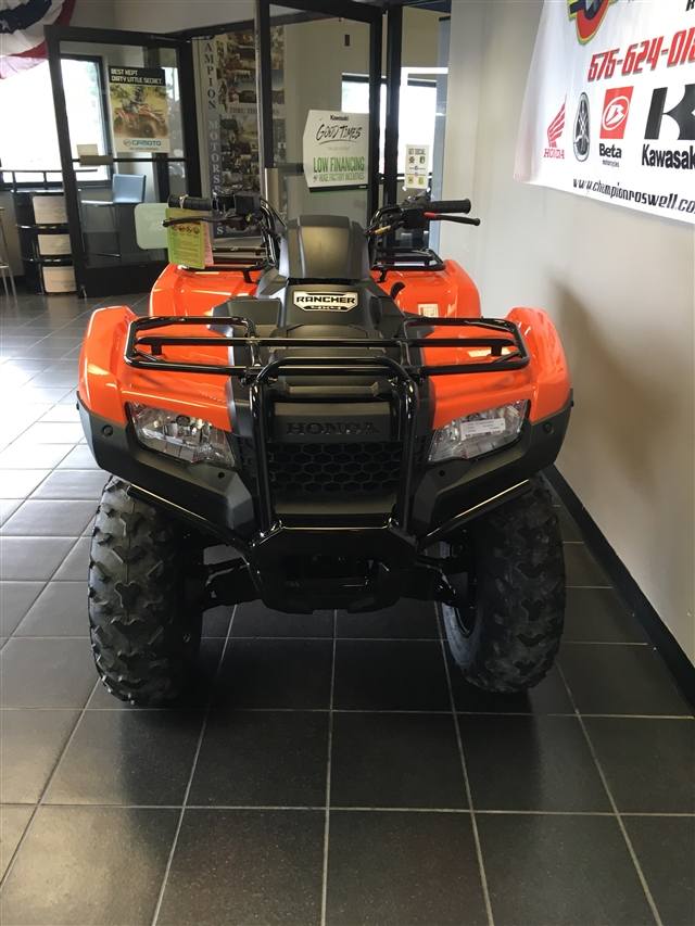 2018 Honda FourTrax Rancher 4X4 at Champion Motorsports, Roswell, NM 88201