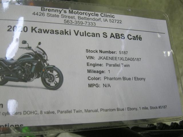 2020 Kawasaki Vulcan S ABS Café at Brenny's Motorcycle Clinic, Bettendorf, IA 52722