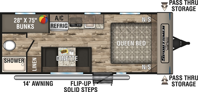 2019 KZ Sportsmen Classic 190BH Bunk Beds at Campers RV Center, Shreveport, LA 71129