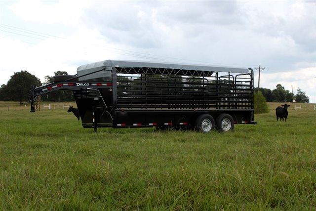 2021 Delco Gooseneck Bar Top Bar Top Livestock Trailers at Bill's Outdoor Supply