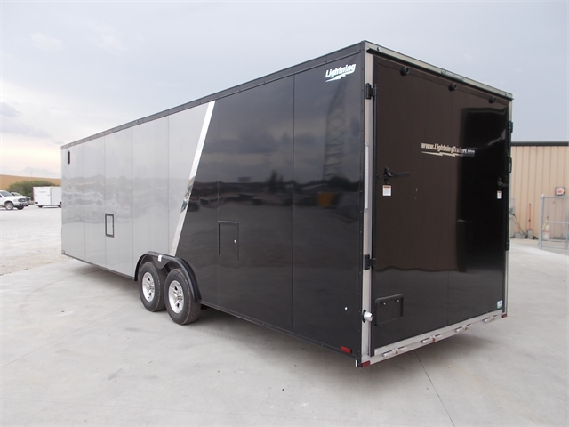 2022 Lightning Trailers 8'6 Wide Flat Top Car Hauler LTFCH828TA3 at Nishna Valley Cycle, Atlantic, IA 50022