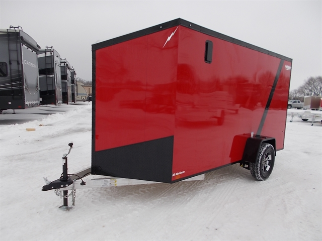 2020 Lightning Trailers 6' Wide Flat Top LTF612SA at Nishna Valley Cycle, Atlantic, IA 50022