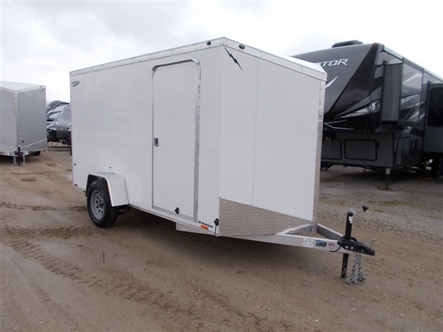 2020 Lightning Trailers LTF612SA 6 Wide Flat Top at Nishna Valley Cycle, Atlantic, IA 50022