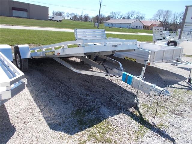 2020 Aluma 7814S TILT Single Heavy Axle Utility Trailers at Nishna Valley Cycle, Atlantic, IA 50022
