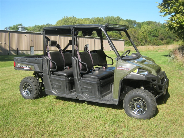 2015 Polaris Ranger Diesel Crew Sage Green at Brenny's Motorcycle Clinic, Bettendorf, IA 52722