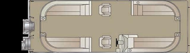 2019 Crest Crest II 220 SLC triple-toon at Fort Fremont Marine, Fremont, WI 54940