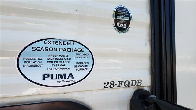 2019 Palomino PALOMINO PUMA PUMA 28FQDB at Youngblood Powersports RV Sales and Service