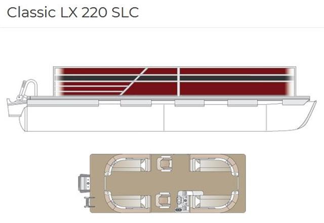 2022 Crest Classic LX 220 SLC at Fort Fremont Marine