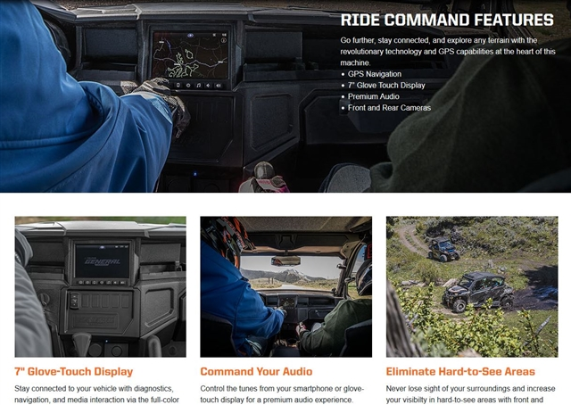 2019 Polaris General 1000 Ride Command at Fort Fremont Marine, Fremont, WI 54940
