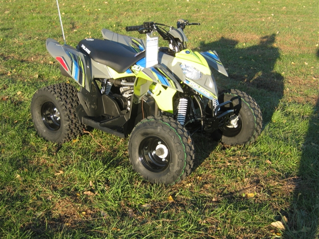 2019 Polaris Outlaw 110 Avalanche Gray/Lime Squeeze at Brenny's Motorcycle Clinic, Bettendorf, IA 52722
