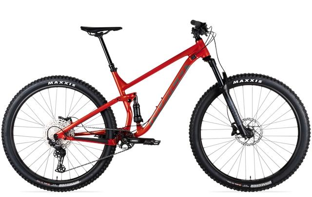 2021 Norco Bike Fluid FS2 S27 M27 L29er - Orange-charcoal at Full Circle Cyclery