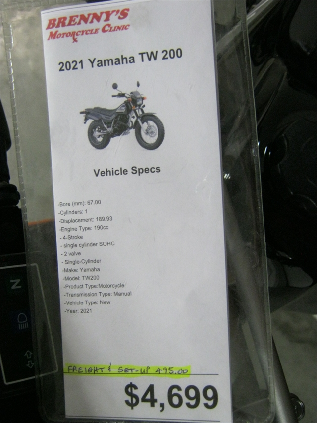 2021 Yamaha TW 200 at Brenny's Motorcycle Clinic, Bettendorf, IA 52722