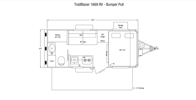 2021 Sundowner Trailers RV TrailBlazer RV at Nishna Valley Cycle, Atlantic, IA 50022
