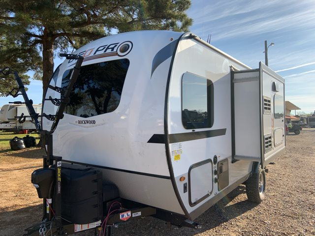 2019 Forest River Rockwood Geo Pro G19QBG Rear Bath at Campers RV Center, Shreveport, LA 71129