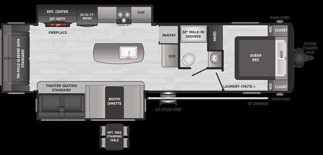 2021 Keystone Hideout (Travel Trailer - East/All) 30RLDS at Campers RV Center, Shreveport, LA 71129
