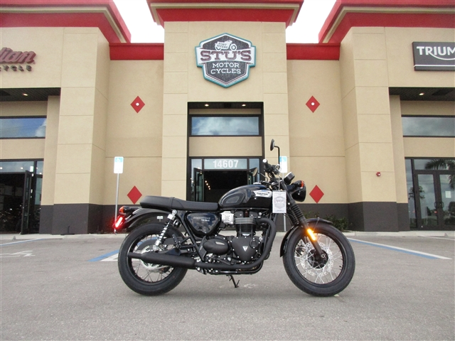 2018 Triumph Bonneville T100 Black at Stu's Motorcycles, Fort Myers, FL 33912