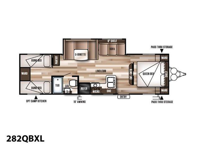2019 Forest River Wildwood X-Lite 282QBXL Bunk Beds at Campers RV Center, Shreveport, LA 71129